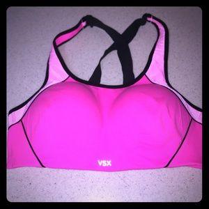 VSX hot pink sports bra size 36C